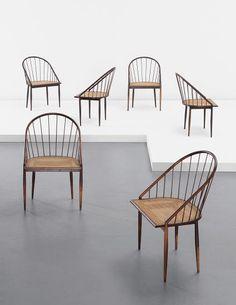 Joaquim Tenreiro, Set of six chairs, c. 1960 | PHILLIPS