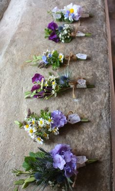The Beautiful Country Wedding wild style boutonnieres