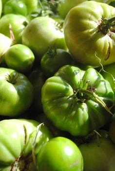 Green Tomatoes and Salsa Verde