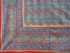 Mainly Paisley Tapestry Spread Versatile Home Decor Twin Red | eBay