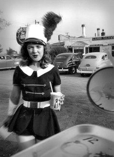 """1947: Hollywood Drive-In """"curb girl"""""""