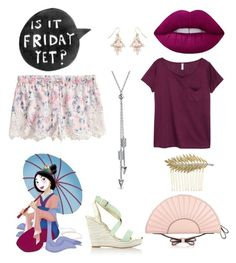 Princess on thursday by glitterbatgirl-5sos on Polyvore featuring polyvore, fashion, style, H&M, White House Black Market, RED Valentino, Bling Jewelry, Accessorize, Lime Crime, Disney and clothing