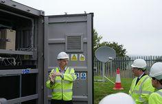 The redT vanadium flow battery energy storage machine on Gigha