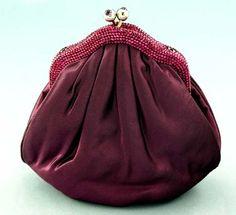a silk evening bag