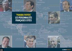 """[Infographie interactive] Qui sont les Français cités dans les """"Panama Papers"""" ? #PanamaPapers #Actualité #Politique"""