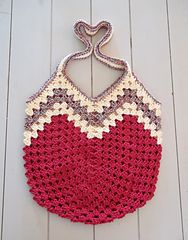 sac crochet vague