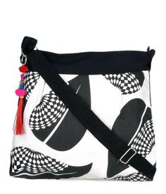 Stylish Hand Bags (4 photos) MRP:Rs.719/- Flat 10% discount for All Products valid Till March 31st Hurry!!  Order Here: http://www.artncraftemporio.com/black-and-white-sling-bag.html Black and white sling bag with zipper in canvas material. Adjustable handle. With beautiful prints and colourful tassels.  COD & Free Shipping Available *