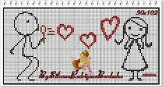 This post was discovered by Natalia Havryshko. Discover (and save!) your own Posts on Unirazi. Cross Stitching, Cross Stitch Embroidery, Hand Embroidery, Cross Stitch Patterns, Cross Stitch Boards, Cross Stitch Heart, Wedding Cross Stitch, Stitch Cartoon, Pattern Pictures