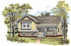 Eplans Craftsman House Plan - Marvelous Curb Appeal - 1088 Square Feet and 3 Bedrooms from Eplans - House Plan Code HWEPL06304
