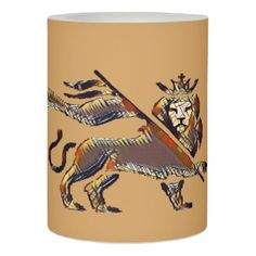 #Lion of Judah City version Flameless Candle - #candle #candles #special #custom