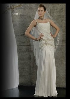 Love this Stephen Yearick Great Gatsby Inspired wedding gown. Available at Catan Fashions, the country's largest destination bridal salon. Located just minutes from Cleveland Hopkins Airport www.catanfashions.com