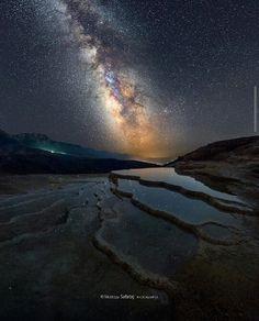 Bandab_Sourt lake and the Milky Way.