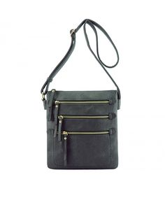 Buy Multi Zipper Pocket Double Compartments Hipster Crossbody Bag - Dark Grey - and More Fashion Bags at Affordable Prices. Dark Grey, Black And Grey, Luxury Handbags, Cross Body Handbags, Fashion Bags, Prada, Hipster, Pocket, Purses