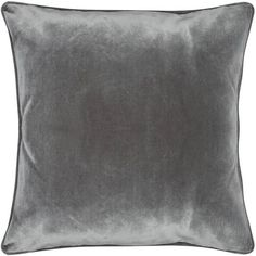 M&Co Velour Cushion (53 MYR) ❤ liked on Polyvore featuring home, home decor, throw pillows, grey, contemporary throw pillows, grey accent pillows, square throw pillows, gray home decor and contemporary home decor