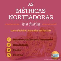Das métricas definem-se kpi's e destes fundamentam-se as decisões. Quantificar é fundamental no pensamento lean.