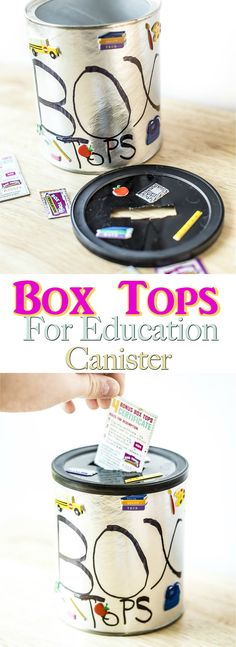 Make a difference in your classroom by donating Box Tops for Education. Use this simple canister to store your Box Tops and get bonus Box Tops from General Mills 5 for 1 Products at Walmart! (AD)