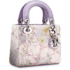 LADY DIOR Multi-coloured 'Lady Dior' mini bag ❤ liked on Polyvore