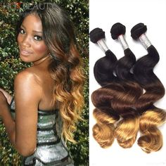 Ombre Brazilian Hair Extensions Brazilian Virgin Hair Loose Wave Aliexpress Uk Hot Beauty Hair 3PcsLot Ombre Colorful Hair Weave