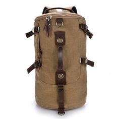 27.65$  Know more - http://aiylw.worlditems.win/all/product.php?id=32401954292 - New Korean Version Canvas Backpacks Men Bucket Backpacks College Wind Schoolbag Travel Backpack Shoulder Bag Computer Backpack