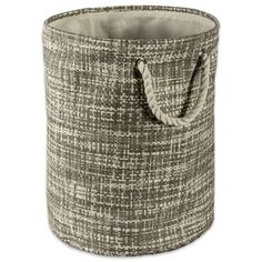 Bring a stylish touch and practical storage utility to your space with this Design Imports Tweed Paper Storage Bin. It offers an eye-catching stylish tweed pattern crafted of woven paper and dual rope handles that allow for easy portability. Decorative Storage Bins, Paper Storage, D Gray, Fabric Bins, Thing 1, Tweed Fabric, Cotton Rope, Storage Containers