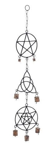 Abstract Patterns Shaped Metal Wind Chime