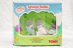 Sylvanian Families Grey Mice the Originals The Thistlethorn Family TOMY