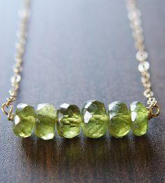 green garnet nugget necklace