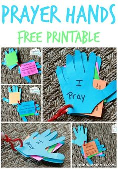 DIY prayer hands for kids
