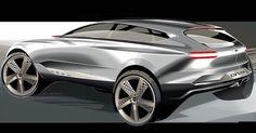 .@GenesisUSA GV80 concept sketch by Brad Arnold. #Genesis #conceptcar #cardesign #NYIAS #carsketch