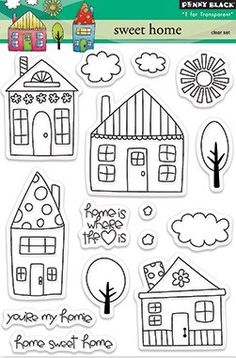 Penny Black Clear Stamp - Sweet Home