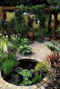 Gorgeous Backyard Ponds and Water Garden Landscaping Ideas (40) #watergarden #WaterGardening