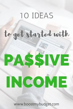 10 ideas for generating passive income