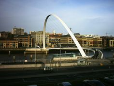 The Gateshead Millennium Bridge is a pedestrian and cyclist tilt bridge spanning the River Tyne in England between Gateshead's Quays arts quarter on the south bank, and the Quayside of Newcastle upon Tyne on the north bank. The award-winning structure was conceived and designed by architects Wilkinson Eyre and structural engineers Gifford. The bridge is sometimes referred to as the 'Blinking Eye Bridge' or the 'Winking Eye Bridge' due to its shape and its tilting method.