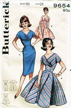 Dress Making Patterns, Vintage Dress Patterns, Vintage 1950s Dresses, Clothing Patterns, 60s Patterns, Retro Outfits, Stylish Outfits, Vintage Outfits, 1960s Fashion