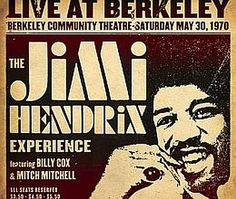 Recorded on May 30, 1970, 'Live at Berkeley' is a posthumous live album by The Jimi Hendrix Experience  The album documents the band's second performance at the Berkeley Community Theatre. TODAY in LA COLLECTION on RVJ >> http://go.rvj.pm/33p