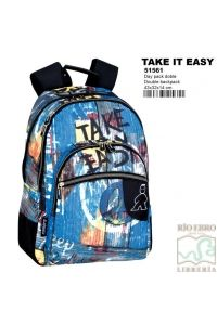 MOCHILA DAYPACK 32CM DOBLE CAMPRO TAKE IT EASY