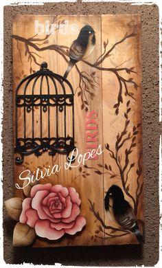 Arte Pallet, Wood Pallet Art, Wood Art, Canvas Crafts, Wood Crafts, Diy And Crafts, Arts And Crafts, Tole Painting, Fabric Painting