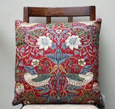 Strawberry Thief cushion cover, design by William Morris