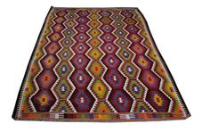 Navajo Rug Handwoven Wool Kilim Rug for Cottage by AreaRugsKilims