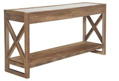 """Manning 71"""" Mirrored Console, Natural"""