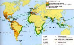 Mapa del imperio español S. XVI