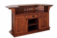Amish Furniture Mission Indoor Home Bar