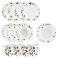 Jordbæreng: Servisepakke fra Porsgrund Porselen - Hyttefeber.no Plates, Tableware, House Ideas, Products, Art, Summer, Licence Plates, Art Background, Dishes