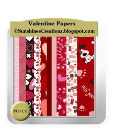 Valentine's paper set - free