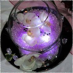 DIY Purple Wedding Centerpieces | Decorations, Easy DIY Fish Bowl Centerpiece Idea For A Purple Wedding ...