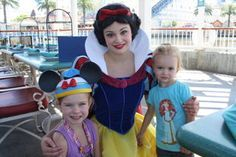 Lily and chloe with Snow White