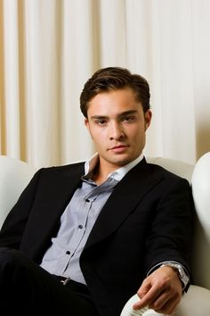 Ed Westwick - Love the expression on his face.