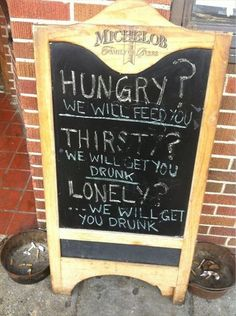 Top 18 des pancartes de bar qui nous font marrer (et qui donnent soif)