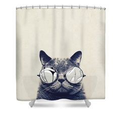 Cool Cat Shower Curtain featuring the photograph Cool Cat by Vitor Costa