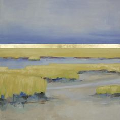 """Gold Ocean #4"" by Ellen Welch Granter. 30"" x 30"" Oil and Gold Leaf on Canvas."